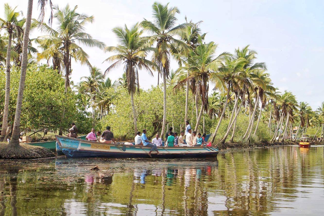 Poovar Island Backwaters Boat Ride Fun